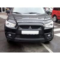 Mitsubishi ASX 2010+/2016+ гг. Дефлектор капота (VIP)