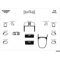 Накладки на панель (1999-2003) Алюминий для Mitsubishi Carisma