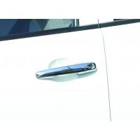 Накладки на ручки (4 шт, нерж.) Carmos - Турецкая сталь для Mitsubishi L200 2006-2015