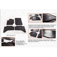 Резиновые коврики (4 шт, Stingray Premium) для Mitsubishi L200 2006-2015