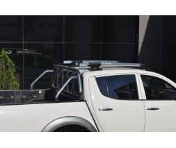 Mitsubishi L200 2006-2015 гг. Рейлинги серые (с поперечинами)