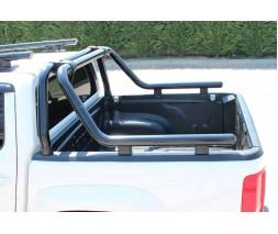 Mitsubishi L200 2015↗ гг. Дуга на кузов (черная) 76мм