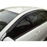 Ветровики (4 шт, HIC) для Mitsubishi Lancer X 2008+