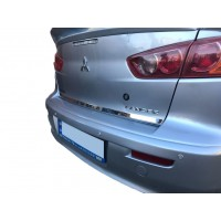 Накладка кромки багажника (нерж) Carmos - Турецкая сталь для Mitsubishi Lancer X 2008+