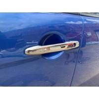 Mitsubishi Outlander 2006-2012 Накладки на ручки (4 шт, нерж.) Carmos - Турецкая сталь (под чип)
