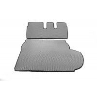 Коврик багажника (EVA, полиуретановый, серый) 7-местный для Mitsubishi Outlander 2006-2012
