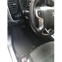 Коврики EVA (черные) гибрид для Mitsubishi Outlander 2012+ и 2015+