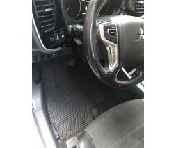 Mitsubishi Outlander 2012+ и 2015+ гг. Коврики EVA (черные) гибрид