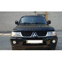 Дефлектор капота (VIP) для Mitsubishi Pajero Sport 1996-2007