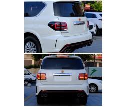 Nissan Armada 2016+ гг. Задние LED фонари Black-Sequential (2 шт)