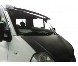 Nissan Interstar 2004-2010 гг. Козырек на лобовое стекло (черный глянец, 5мм)