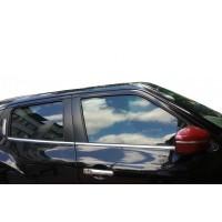 Окантовка стекол (4 шт, нерж) OmsaLine - Итальянская нержавейка для Nissan Juke 2010-2019