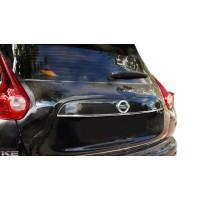 Хром планка над номером (нерж.) OmsaLine - Итальянская нержавейка для Nissan Juke 2010-2019