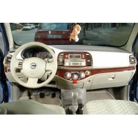 Nissan Micra K12 2003-2010 гг. Накладки на панель Дерево