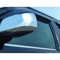 Наружняя окантовка стекол (4 шт, нерж.) OmsaLine - Итальянская нержавейка для Nissan Navara 2006-2015