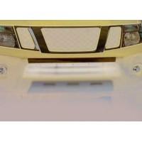 Накладка на передний бампер (нерж.) для Nissan Navara 2006-2015