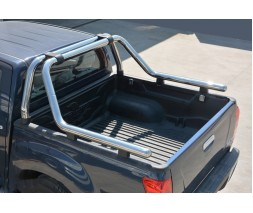 Nissan Navara/NP300 2016↗ Дуга на кузов (нержавейка) 76мм
