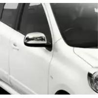 Накладки на зеркала (2 шт, нерж) OmsaLine - Итальянская нержавейка для Nissan Note 2013+