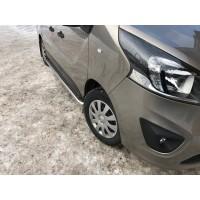 Боковые пороги Premium (2 шт, нерж) 60 мм, длинная база для Nissan NV300 2016+