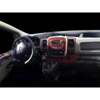 Nissan NV300 2016+ гг. Накладка на торпеду Алюминий