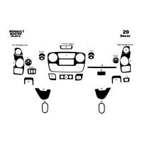 Nissan NV400 2010+ гг. Накладки на панель (большая комплектация) Алюминий