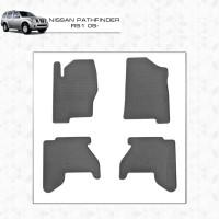 Резиновые коврики (4 шт, Stingray Premium) 2010-2015 для Nissan Pathfinder R51 2005-2014