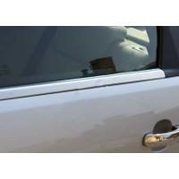 Окантовка стекол (4 шт, нерж.) OmsaLine - Итальянская нержавейка для Nissan Pathfinder R51 2005-2014