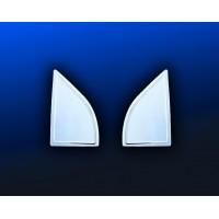 Накладка на ветровички (2 шт, нерж.) для Nissan Pathfinder R51 2005-2014