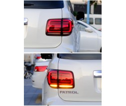 Nissan Patrol Y62 2010+ гг. Задние LED фонари RED-Sequential (2 шт)