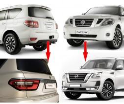 Nissan Patrol Y62 2010+ гг. Комплект рестайлинга в 2020 год (рестайлинг)
