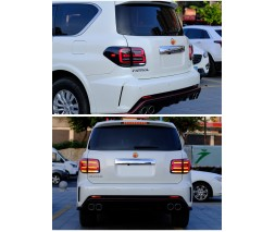 Nissan Patrol Y62 2010+ гг. Задние LED фонари Black-Sequential (2 шт)