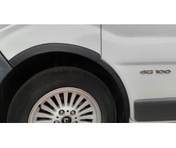 Nissan Primastar 2002-2014 гг. Накладки на колесные арки (4 шт, черные) 2001-2007, черный металл