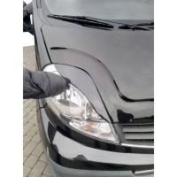 Nissan Primastar 2002-2014 гг. Реснички Porshe-style Черный мат