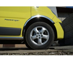 Nissan Primastar 2002-2014 гг. Накладки на колесные арки (4 шт, нержавейка) 2001-2007