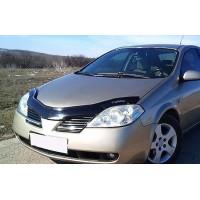 Дефлектор капота (VIP) для Nissan Primera P12 2003+
