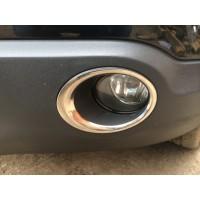 Накладки на противотуманки обводка (2 шт, нерж.) для Nissan Qashqai 2007-2010