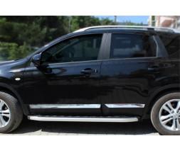Nissan Qashqai 2007-2010 гг. Молдинг дверной (4 шт, нерж.) Carmos, -20212 (длинный)