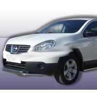 Передний двойной ус ST014 (нерж) 70 / 48 мм для Nissan Qashqai 2007-2010