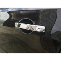Накладки на ручки (4 шт, нерж) С чипом, Carmos - Турецкая сталь для Nissan Qashqai 2007-2010