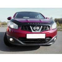 Nissan Qashqai 2010-2014 Дефлектор капота (VIP)