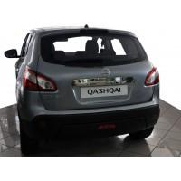 Nissan Qashqai 2010-2014 Накладка над номером (нерж.) Без кнопки, Carmos - Турецкая сталь