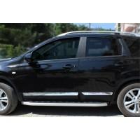 Nissan Qashqai 2010-2014 гг. Молдинг дверной (4 шт, нерж.) Carmos, -20212 (длинный)