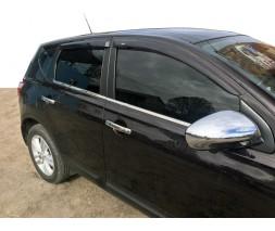 Nissan Qashqai 2010-2014 гг. Наружная окантовка (4 шт, нерж) 2-2021 длинная база, OmsaLine - Итальянская нержавейка