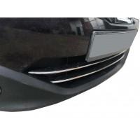 Полоски на нижнюю решетку (2 шт, нерж) для Nissan Qashqai 2010-2014