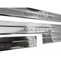 Nissan Qashqai 2014+ Накладки на пороги (Carmos, 4 шт, нерж.)