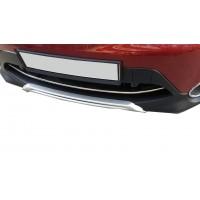 Накладка на передний бампер (2014-2017, нерж) OmsaLine - Итальянская нержавейка для Nissan Qashqai 2014+