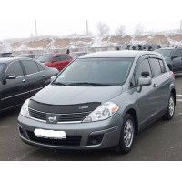 Дефлектор капота (VIP) для Nissan Tiida 2004-2011