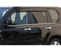 Nissan X-trail T30 2002-2007 гг. Окантовка стекол (4 шт, нерж) OmsaLine - Итальянская нержавейка