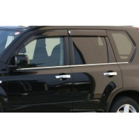 Окантовка стекол (6 шт, нерж) Carmos - Турецкая сталь для Nissan X-trail T30 2002-2007