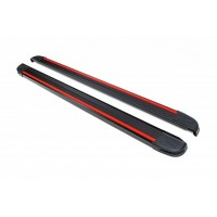 Боковые пороги Maya Red (2 шт., алюминий) для Nissan X-trail T31 2007-2014